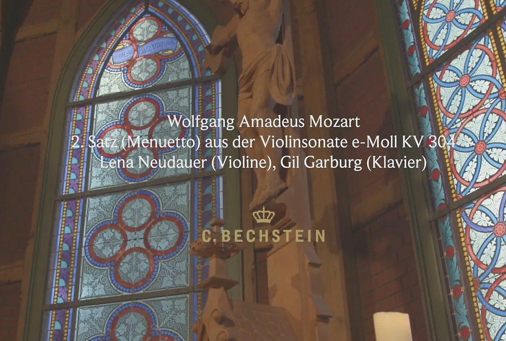 Wolfgang Amadeus Mozart: 2. Satz (Menuetto) aus der Violinsonate e-Moll KV 304