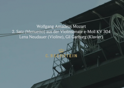 Wolfgang Amadeus Mozart: 2. Satz (Menuetto) aus der Violinsonate e-Moll KV 304 Lena Neudauer (Violine), Gil Garburg (Klavier) Ottiliaeschacht