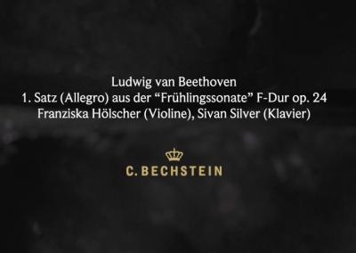 """Ludwig van Beethoven: 1. Satz (Allegro) aus der """"Frühlingssonate"""" F-Dur op. 24 Franziska Hölscher (Violine), Sivan Silver (Klavier) Höhlenerlebniszentrum"""