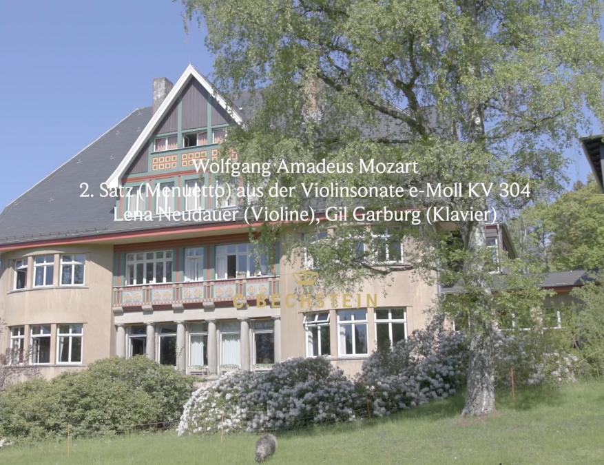 Wolfgang Amadeus Mozart: 2. Satz (Menuetto) aus der Violinsonate e-Moll KV 304 Lena Neudauer (Violine), Gil Garburg (Klavier) Barner Sanatorium